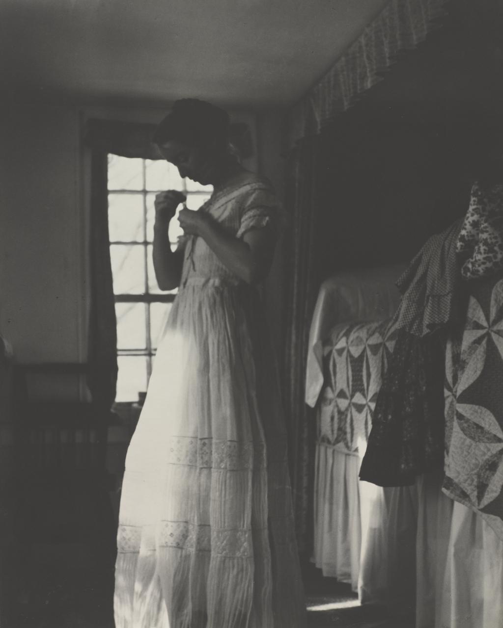 Tasha Tudor 1940 dressing in her bedroom