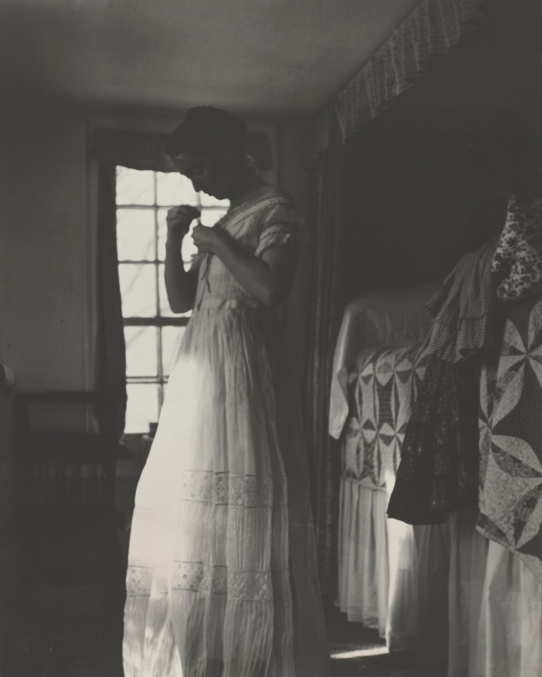 Tasha Tudor 1940 dressing in her bedroom