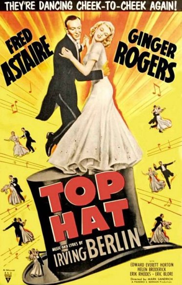 astaire rogers top hat movie poster