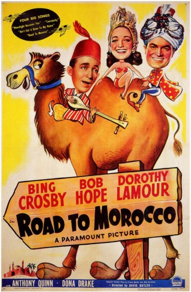 bing crosby bob hope road to morocco movie poster