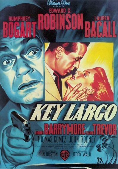 bogart bacall key largo movie poster