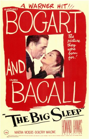 bogart bacall the big sleep movie poster