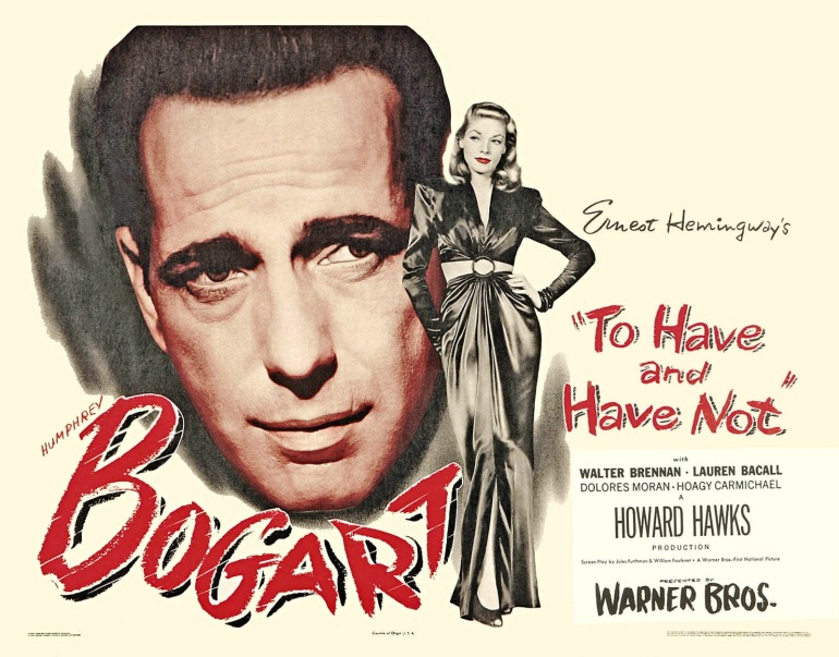 bogart bacall to have and have not movie poster