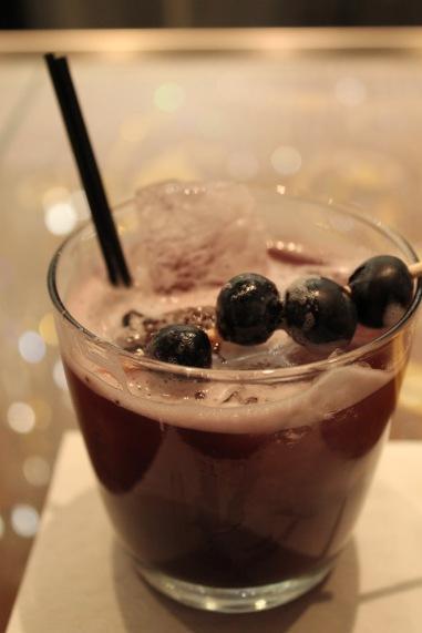 Cosmopolitan Chandelier Bar Blueberry Cocktail