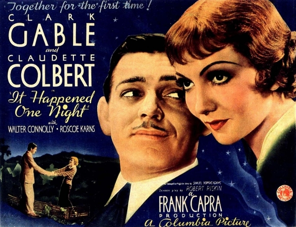 gable colbert it happened one night movie poster