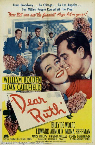 holden caulfield dear ruth movie poster