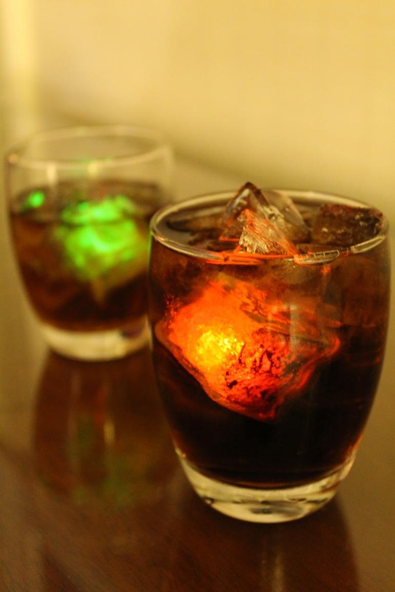 Las Vegas Light Up Ice Cubes Happy Hour