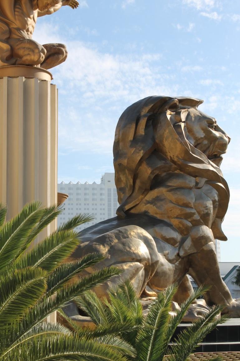 MGM Grand Las Vegas Strip Gold Lion