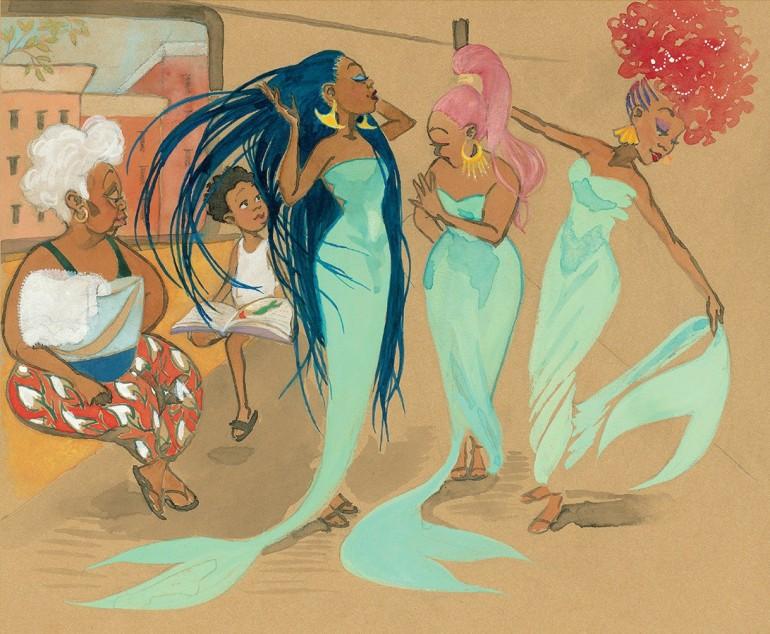 Jessica Love Julian is a Mermaid Children's Book Illustration