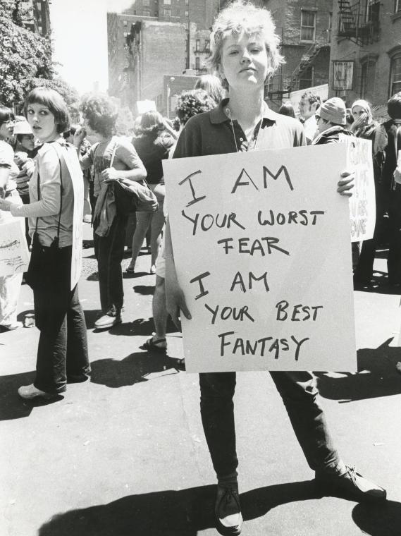 Diana Gottschalk - Christopher Street Gay Liberation Day parade 1970 - photographer Diana Davies